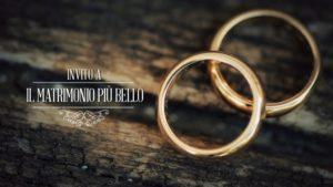 Invito a Il matrimonio più bello su Sky e Mediaset fedi nuziali